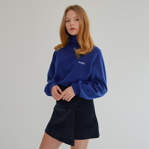 MG7F RAGLAN KNIT LOGO HIGH NECK MTM (BLUE)