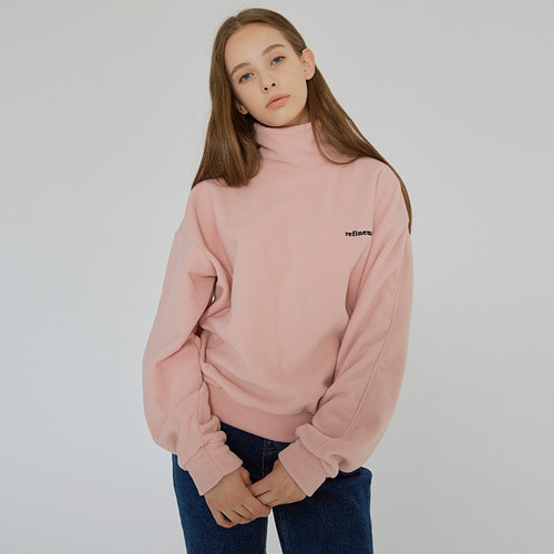 [1/24예약]MG7F FLEECE HIGH NECK MTM (PINK)