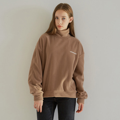 MG7F FLEECE HIGH NECK MTM (BROWN)