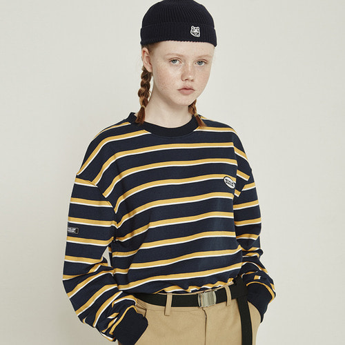 [10/8예약]MG8F APPLIQUE STRIPE MTM (NAVY)