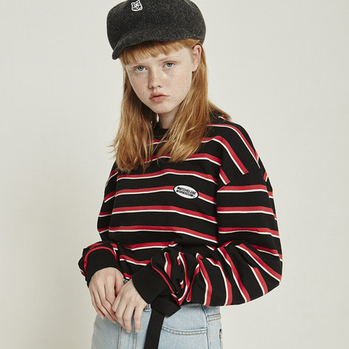 [10/8예약]MG8F APPLIQUE STRIPE MTM (BLACK)