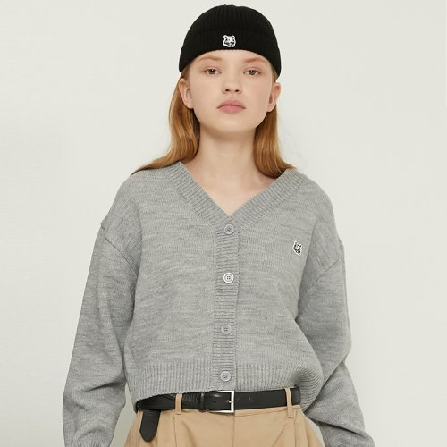 MG8F BASIC LOGO CARDIGAN (GRAY)