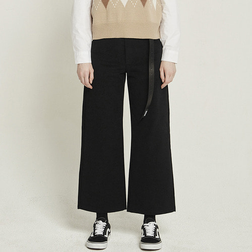 MG8F COTTON WIDE PANTS (BLACK)