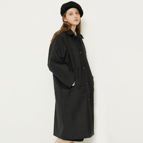 MG8F OVERSIZE COAT (DARK GRAY)