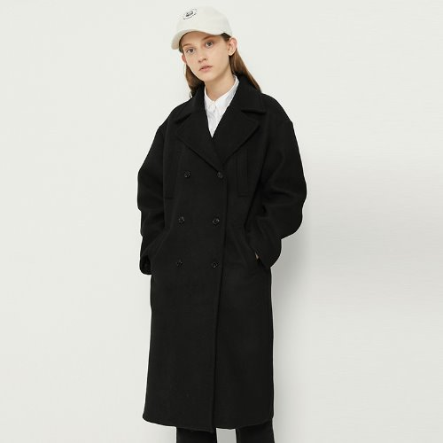 [10/29예약]MG8F DOUBLE POCKET COAT (BLACK)