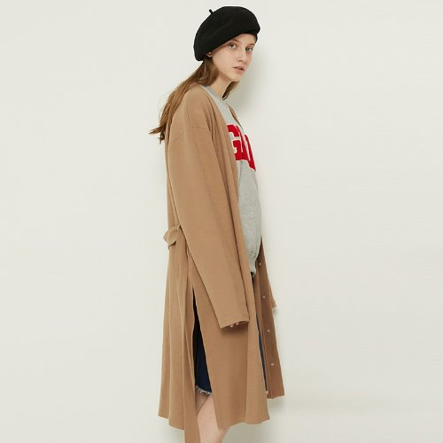 MG8F STRAP LONG CARDIGAN (BEIGE)