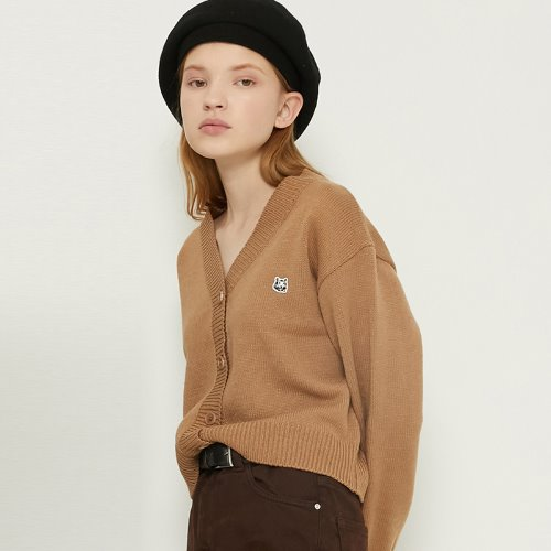 MG8F BASIC LOGO CARDIGAN (BEIGE)