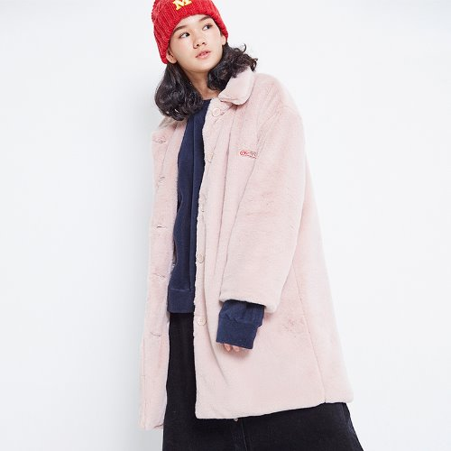MG8F BASIC FUR COAT (PINK)