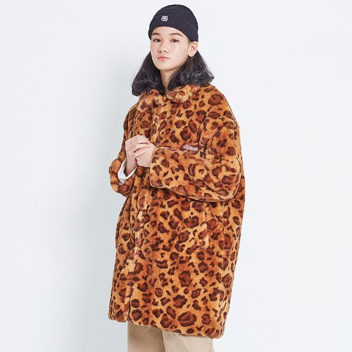 MG8F LEOPARD FUR COAT (BROWN)