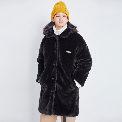 MG8F BASIC FUR COAT (BLACK)
