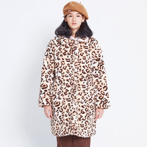 MG8F LEOPARD FUR COAT (IVORY)