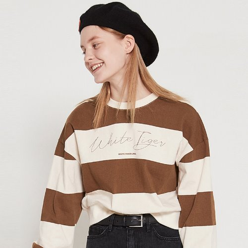 MG9S WT STRIPE CROP MTM (BROWN)