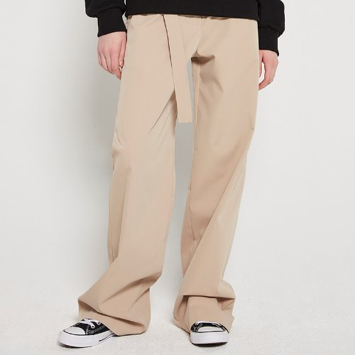[2/14예약]MG9S HIGH WAIST BELT PANTS (BEIGE)