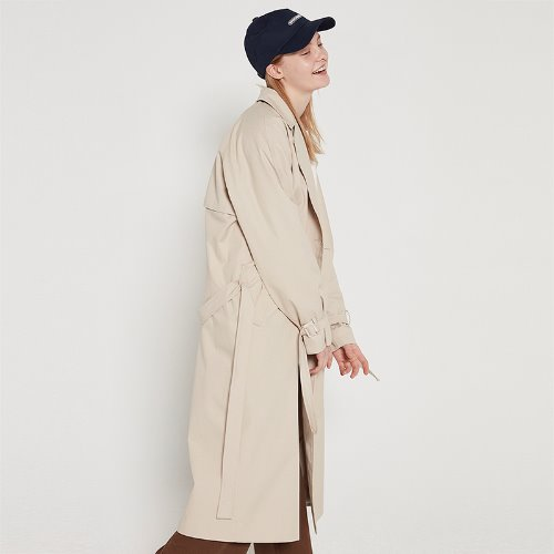[2/15예약]MG9S DOUBLE STRAP COAT (BEIGE)