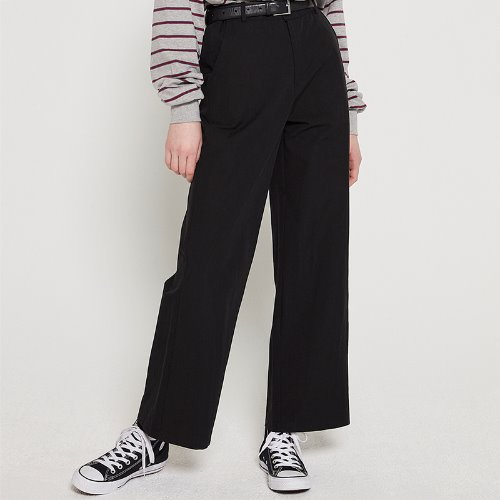 MG9S BASIC WIDE PANTS (BLACK)