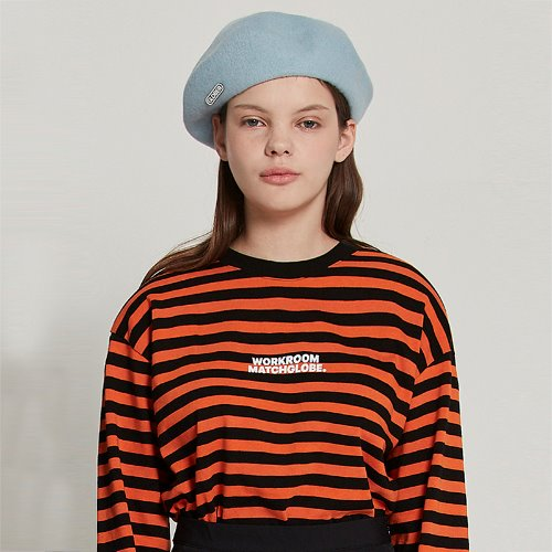 [2/21 예약] MG9S STRIPE LOGO TEE (ORANGE)