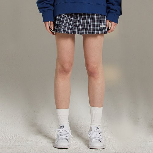 [2/15예약]MG9S PLEATS CHECK SKIRT (NAVY)
