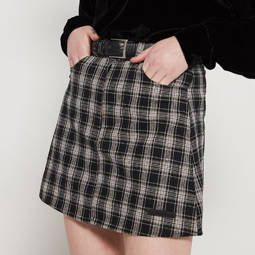 MG9S CHECK MINI SKIRT (BLACK)
