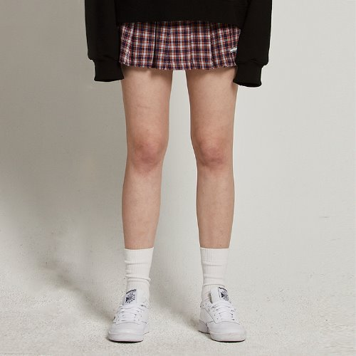 [2/15예약]MG9S PLEATS CHECK SKIRT (BROWN)