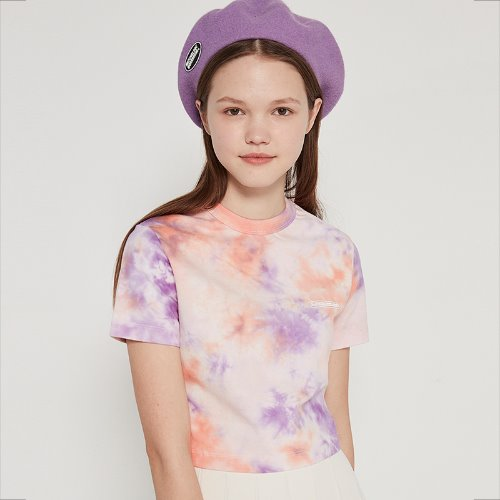 [5/31 예약]MG9S TIE DYE CROP TEE (LIGHT PURPLE)