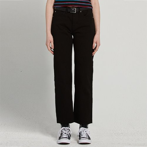 MG9S DENIM BASIC PANTS (BLACK)