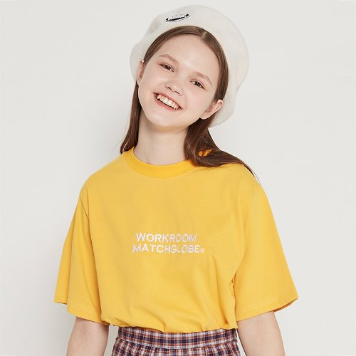 [6/4 예약]MG9S BOX COLORFUL TEE (YELLOW)