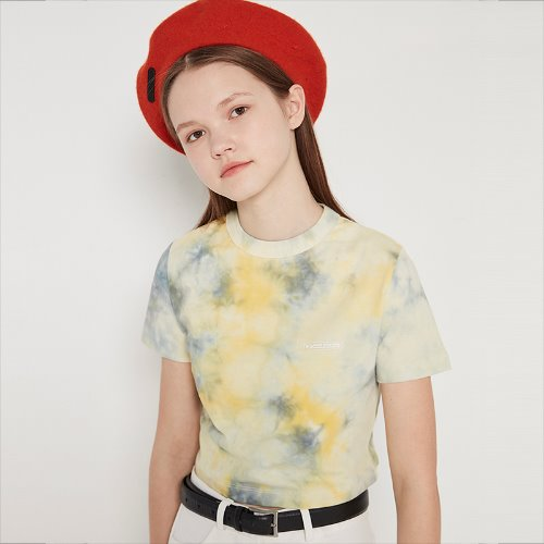 [5/31 예약]MG9S TIE DYE CROP TEE (YELLOW)