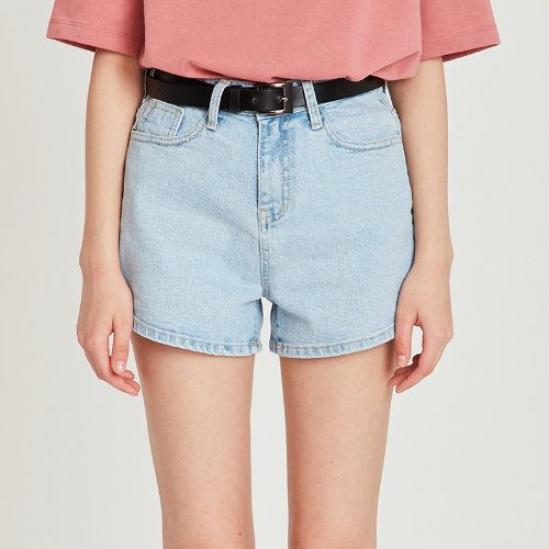 MG9S DENIM BASIC SHORTS (LIGHT BLUE)