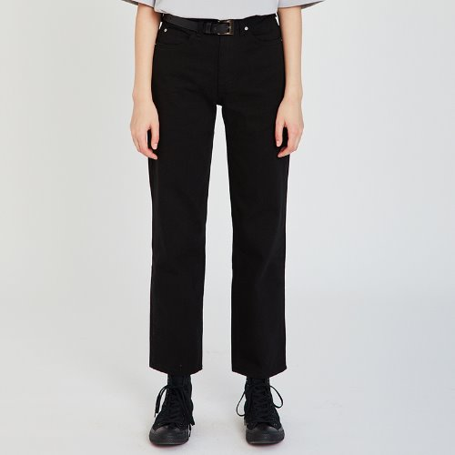 MG9S DENIM STRAIGHT PANTS (BLACK)