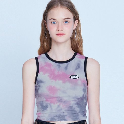 MG9S TIE DYE SLEEVELESS (PINK)
