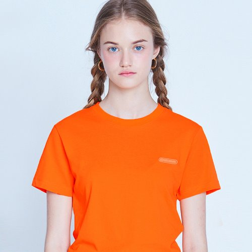 [8/21 예약배송] MG9S COLOR POINT CROP TEE (ORANGE)