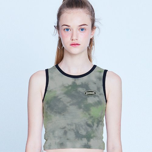MG9S TIE DYE SLEEVELESS (GREEN)