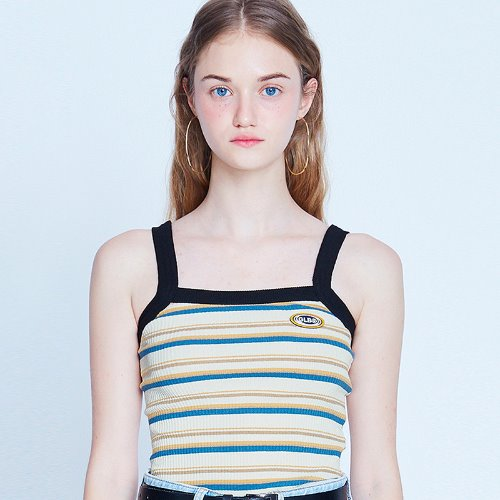 MG9S STRIPE CROP SLEEVELESS (IVORY)