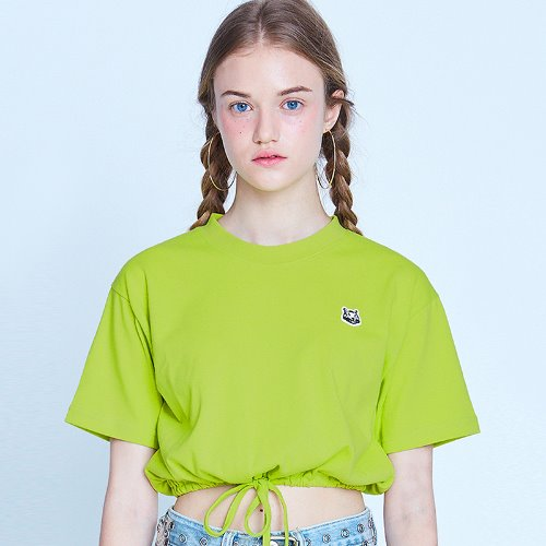 [8/16 예약배송] MG9S STRING CROP TEE (YELLOW GREEN)