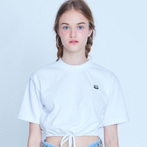 MG9S STRING CROP TEE (WHITE)