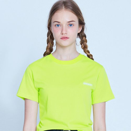 [8/21 예약배송] MG9S COLOR POINT CROP TEE (YELLOW GREEN)