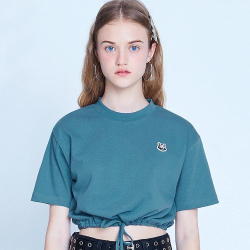 MG9S STRING CROP TEE (DARK BLUE)