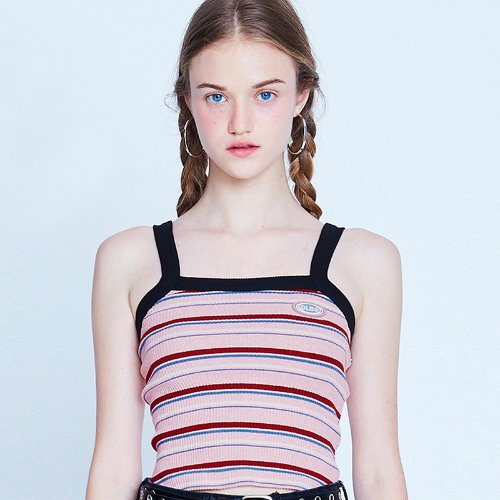 MG9S STRIPE CROP SLEEVELESS (PINK)