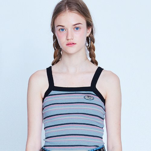 MG9S STRIPE CROP SLEEVELESS (BLUE)