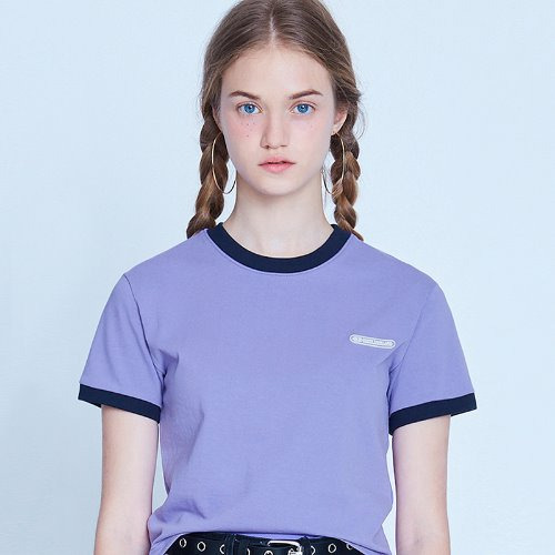 MG9S RINGER CROP TEE (LIGHT PURPLE)