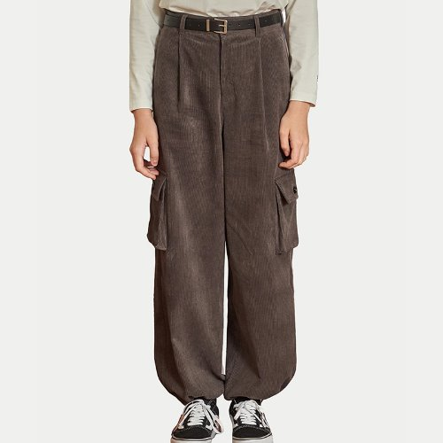 MG9F CORDUROY STRING PANTS (CHARCOAL)