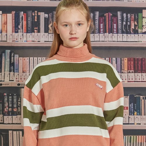 MG9F STRIPE PULLOVER KNIT (PINK)