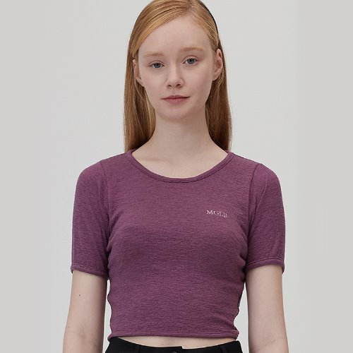 MG0S PUFF SLEEVE CROP TEE (PURPLE)