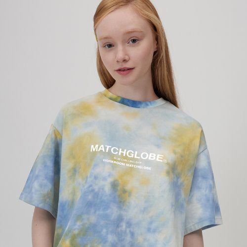 MG0S TIE DYE BOX LOGO TEE (GREEN)