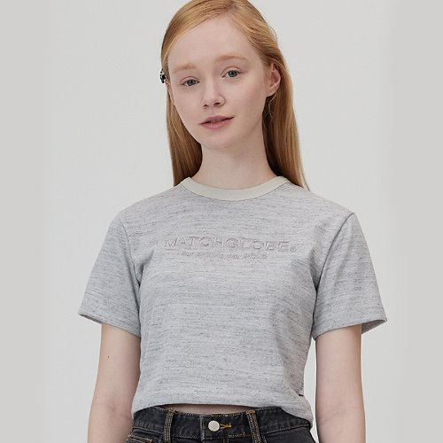 MG0S SLUB CROP TEE (GRAY)