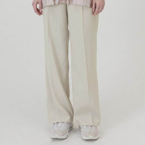 MG0S PINTUCK LONG SLACKS (IVORY)