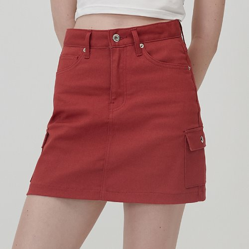 MG0S OUTPOCKET MINI SKIRT (RED)