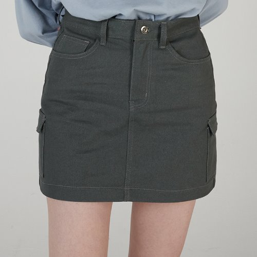 MG0S OUTPOCKET MINI SKIRT (GRAY)