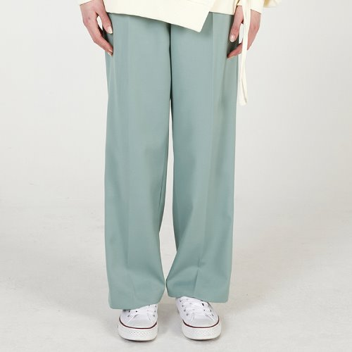 MG0S PINTUCK LONG SLACKS (GREEN)