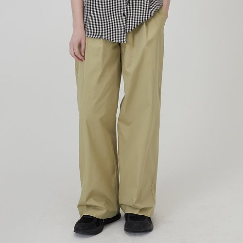MG0S TWO TUCK WIDE PANTS (BEIGE)